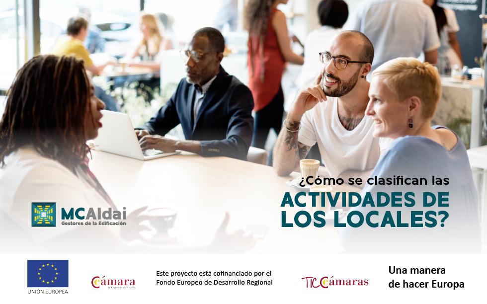 McAldai,Clasificación de las actividades de los locales